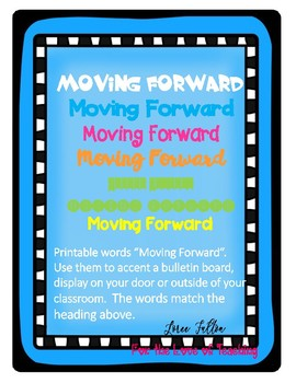 Printable Bulletin Board Words.....Moving Forward