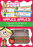 Apples Apples - Egg Carton Math Centers /Games / Activities