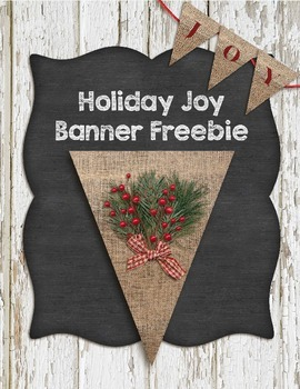 Printable Burlap Holiday Banner Pennant Freebie