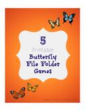 Printable Butterfly File Folder Games