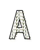 Printable Cactus Alphabet Letter Posters