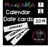 Printable Calendar Cards for Bulletin Boards