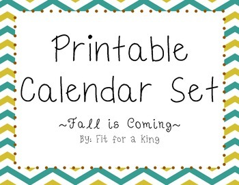 Printable Calendar: Fall is Coming