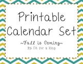 Printable Calendar: Fall is Coming