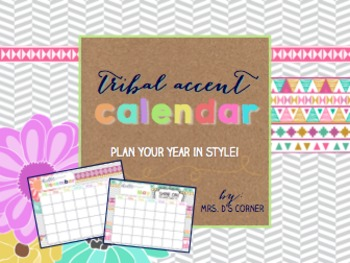 Printable Calendar { Tribal Herringbone }