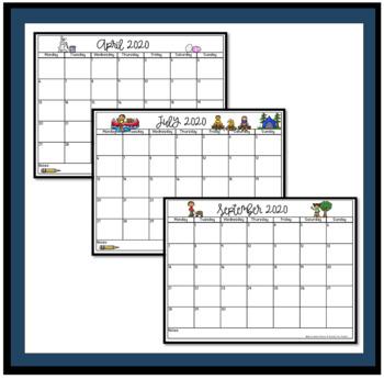 Printable Calendar for Teachers