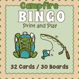 Camping Bingo Game - Camping Themed Activity