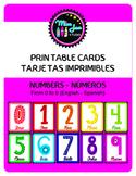 Printable Cards (Numbers - Números)