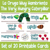 Very Hungry Caterpillar in Spanish Printable Flashcards |