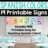 Printable Cards for Teaching Spanish Colors