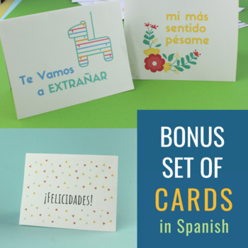 Printable Cards in Spanish (for the Home & Classroom)