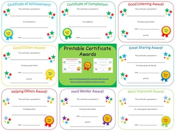 Certificate Awards {editable}