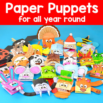 Printable Character Puppets - Craftivity - Crafts for the Whole Year Bundle