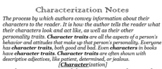 Printable Characterization and Character Motivation Notes