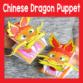 Printable Chinese Dragon Puppet Craftivity Template - Chinese New Year Craft