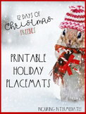 Printable Christmas Activity Page/Placemat -12 Days of Chr