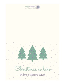 Printable Christmas Cards - Lovely Lavender and Gorgeous Green