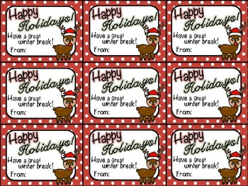Printable Christmas Gift Tag (Happy Holidays)