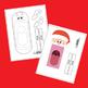 Printable Christmas Puppets Christmas Craft / Santa, Rudolph and Elf Craftivity