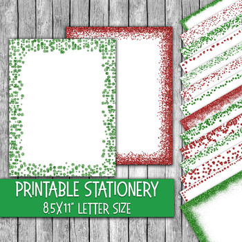 Christmas Stationery Template from ecdn.teacherspayteachers.com