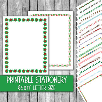 photo regarding Printable Christmas Stationery identified as Printable Xmas Stationery - Xmas Letter Paper - 16 Papers - 8.5x11