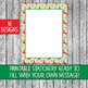 Printable Christmas Stationery - Classic Christmas Letter Size-16 Papers-8.5x11