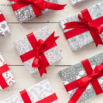 Printable Christmas Wrapping Paper | 8 Pack