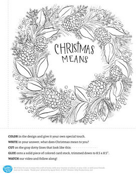 Printable Christmas Wreath by Susie Q and You!