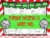 Printable Christmas and Winter Hats! Santa, Elf, Reindeer,