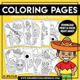 Printable Cinco de Mayo Coloring Pages {Zip-A-Dee-Doo-Dah Designs}