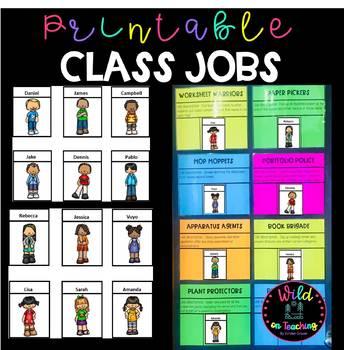 Printable Class Jobs