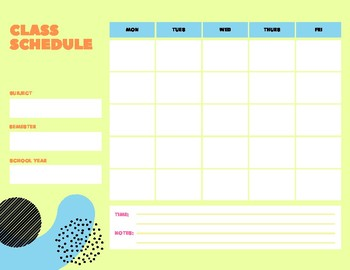 photograph regarding Class Schedule Printable identify Printable Cl Routine