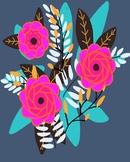 Printable Classroom Art, Instant Download, 8x10 Floral Print #3