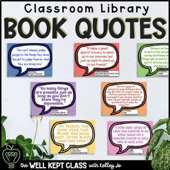 Printable Posters: Classroom Book Quotes from Popular Novels