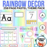 Printable Classroom Decor: Pastel Rainbow Theme, Elementary Decorations