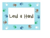 "Printable Classroom Helper Job ""Lend a Hand"" Chart Bulletin Board"