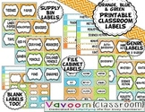 Printable Classroom Labels for Supply Bins, Book Genres, a