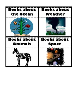 Printable Classroom Library Bin Labels
