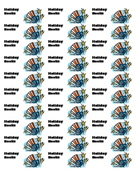 Printable Classroom Library Book Labels