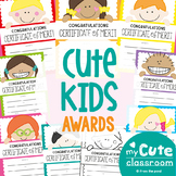 Printable Classroom Merit Awards {Cute Kid} Editable + Backline