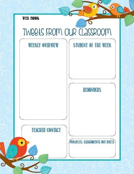Printable Classroom Newsletter Activity Sheet