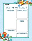 Printable Classroom Newsletter Activity Sheet