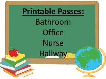 Printable Classroom Passes