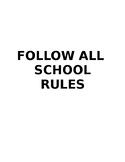 Printable Classroom Policies