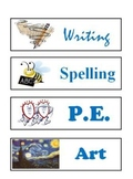 Printable Classroom Schedule Cards