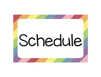 Printable Classroom Schedule - Mini Star Theme