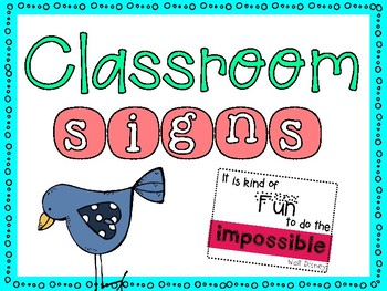 photo regarding Classroom Signs Printable called Printable Clroom Symptoms Worksheets Academics Fork out Academics