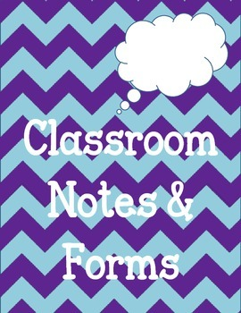 Printable Classroom Teacher Notes and Forms. Miss you. Substitute. Behavior etc