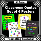 Set of 4 Posters Classroom Decor, Classroom Rules Posters