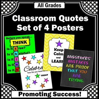 Class Rules Posters for Back to School THINK, Celebrate &